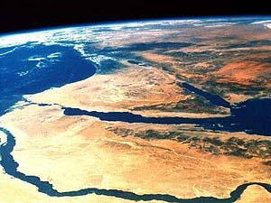 Фотография Египта из Космоса