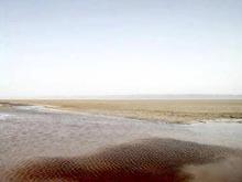 увеличить: гигантское соленое озеро, Тунис