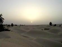 увеличить: закат в пустыне Сахара, Тунис
