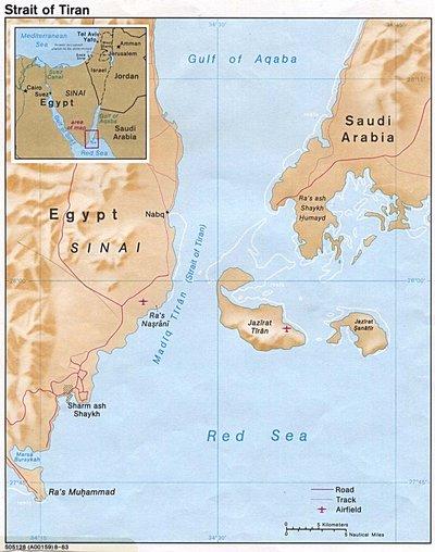 Карта окрестностей Шарм Эль Шейха
