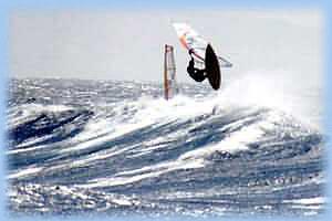 Дахаб виндсерфинг на ЛайтХаусе в сильный ветер