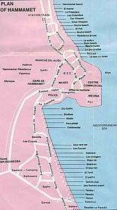 Тунис Карта Хаммамета
